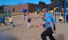 Quarles trying to escape playground @ Campbell Elem.