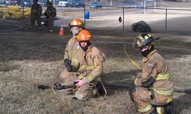 2014 Training burn. Mason, Trace, and Kendra.