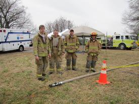 2013 Training burn. Trace, Josh, Dylan, and Troy.